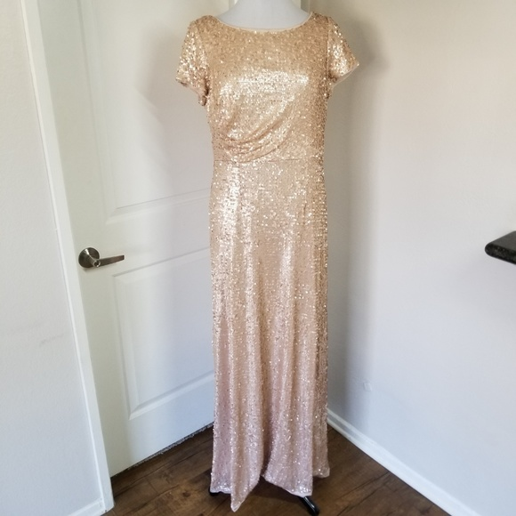 Adrianna Papell Dresses & Skirts - Adrianna Papell Blush Sequin Dress 14 (NWOT)
